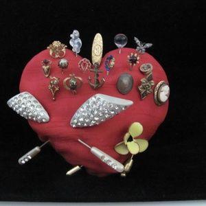 Vintage Heart Full of 20 Stick Lapel Hat Pins